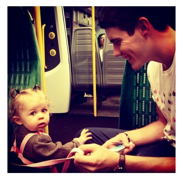 BUT GUYS REMEMBER WHEN ALFIE SAID THAT THE IDEA OF BEING A DAD EXCITES HIM JUST LOOK HOW HAPPY HE IS WITH BABY GLITTER