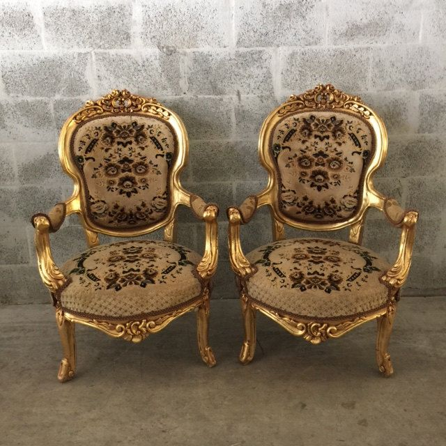 Antique Italian Baroque Small Throne Style Chair Fauteuil Armrest Gold Leaf  Gild Refinished Rococo Louis XVI - 54 Best Antique Chairs & Bergeres Images On Pinterest Gold Leaf
