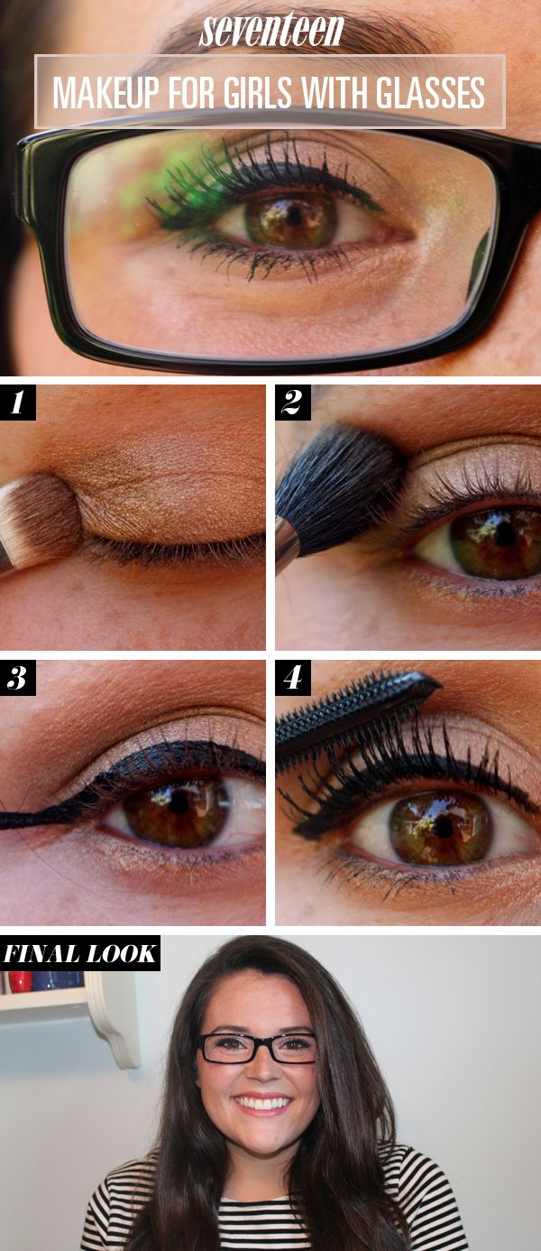How to apply eye makeup while wearing glasses