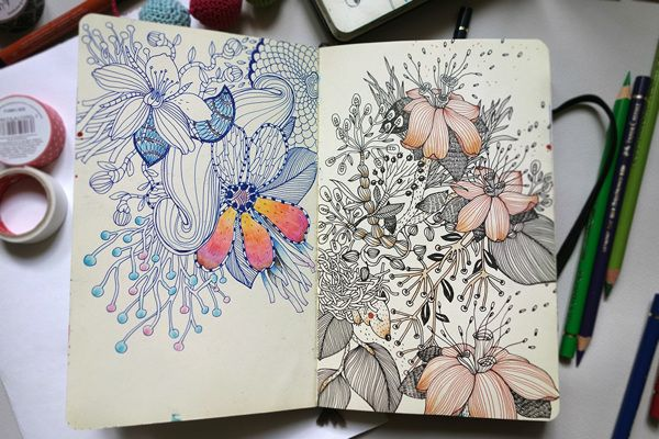 Anna Aniskina: Sketchbook pages on Behance