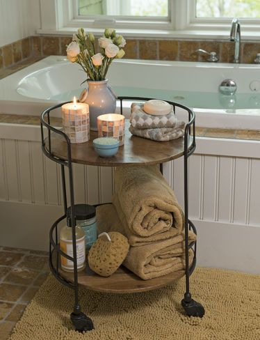 Astoria Rolling Accent Table Bathroom
