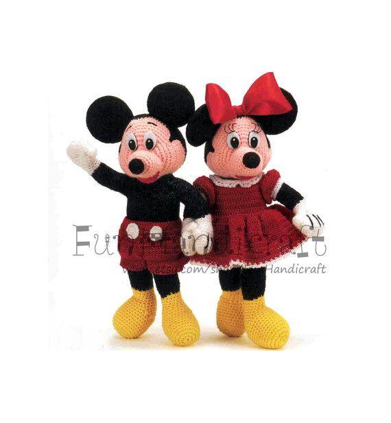 Amigurumi Pattern Minnie Mouse : Mickey a Minnie Mouse 12