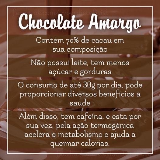 Pode comer chocolate sim! #dicas #tips #diet #emagrecer #dieta