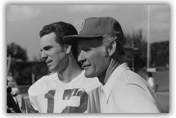 Roger Staubach & Tom Landry. When football wasn't a bunch of guys trash talking.