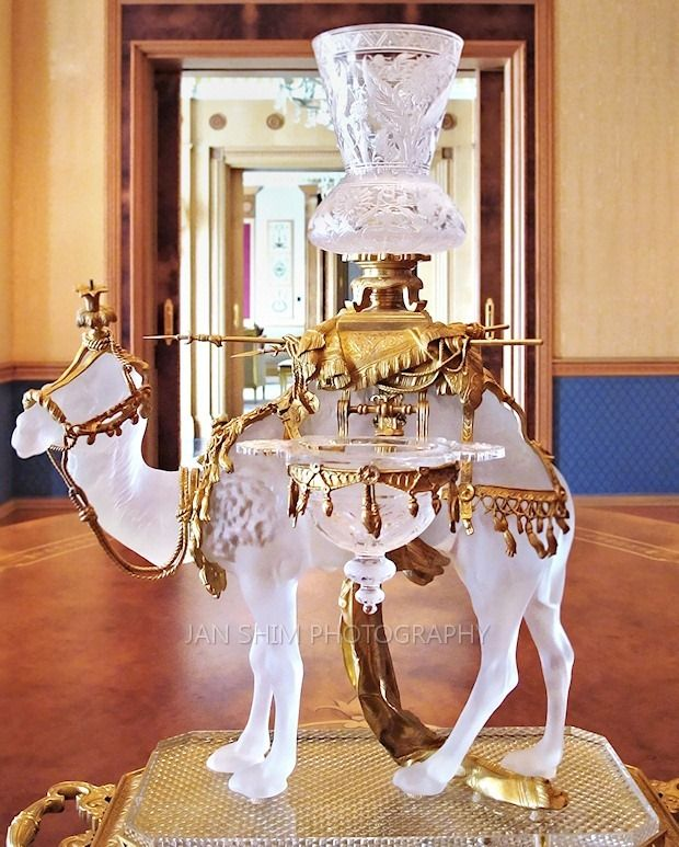 Baccarat Crystal Camel at the Empire Hotel in Brunei