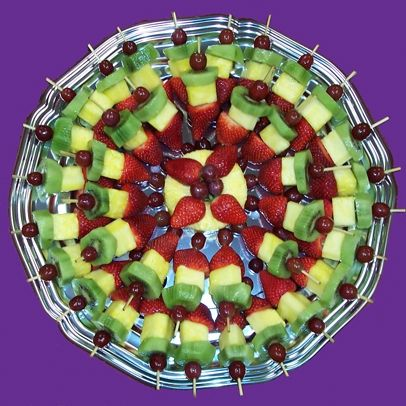 A very finger friendly fruit platter for getting together! My kids would love this anytime as well.