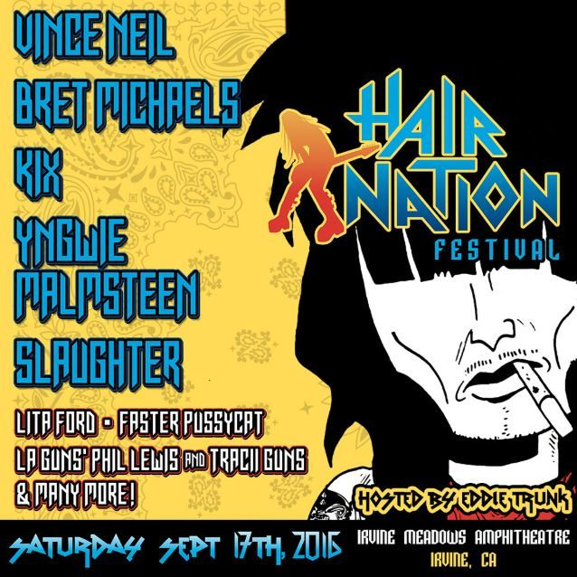 POISON's Bret Michaels and MÖTLEY CRÜE's Vince Neil are among the artists who will perform at the Hair Nation Festival, set to take place on Saturday, September 17 at Irvine Meadows Amphitheatre in...