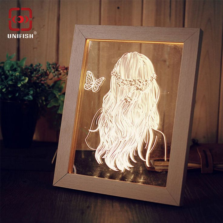 Find More Novelty Lighting Information about New Arrival 3D Creative Photo Frame…