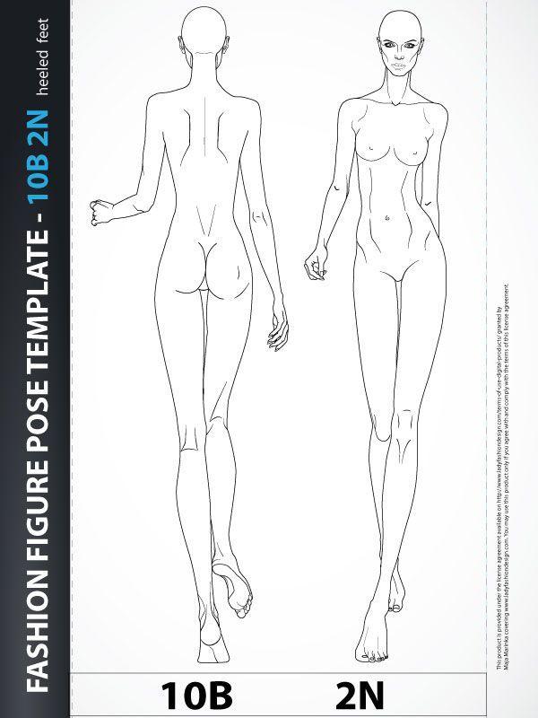 croquis for fashion drawing - Google Search Rysunek żurnalowy - fashion designer templates