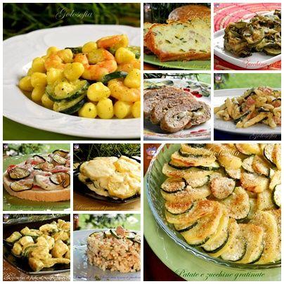 Raccolta di ricette con le zucchine, tante preparazioni semplici e golose, dedicate agli amanti di questo favoloso e versatile ortaggio!