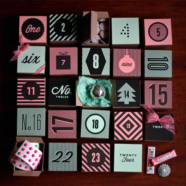 Printable Holiday Boxes http://ohhappyday.com/2011/11/holiday-box-advent-free-printable/