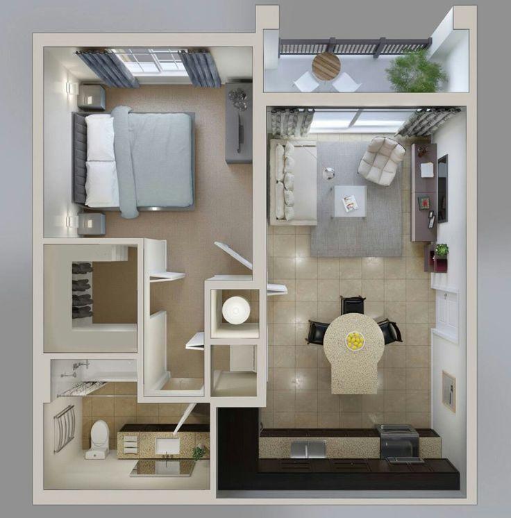 Oltre 25 fantastiche idee su planimetrie dell 39 appartamento for Idee di appartamento studio garage