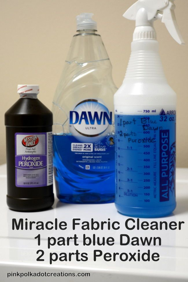 Okay have any of you out there tried this homemade Miracle Fabric Cleaner?!  It really is what it says!  I don't where I have been all of my life, but this stuff is wonderful!! :)I have tried it on stains and they came right out.  I have even tried it on old stains that have... Read the full article...