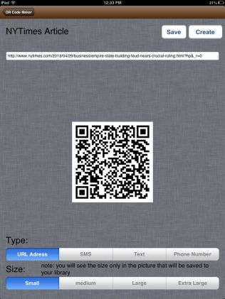 Create your own QR codes! I've talked about all the ways I use QR codes in my classroom and it is so easy to make your own! The free iPad app QR Code Maker gives users the ability to copy and paste any URL and turn their link into a QR code. Save the QR code to your camera roll and share with students.    I have lots of QR hunts in my teacher store (here's bundle #1 and bundle #2)    *this app works great on your iPhone too!