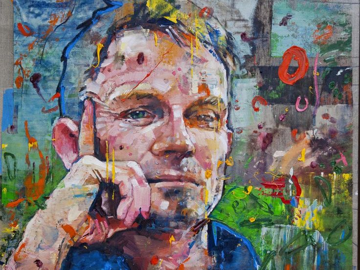 The portrait of Matt Cain, painted by Canadian Andrew Salgado