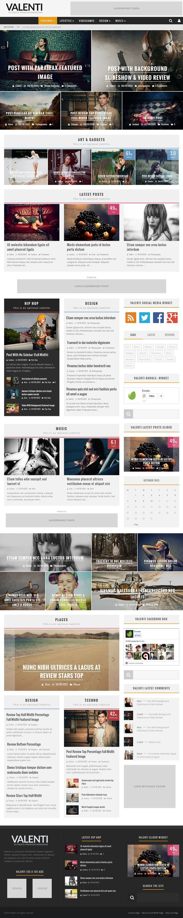 Valenti – WordPress HD Review Magazine News Theme. #best_wordpress_themes_2013