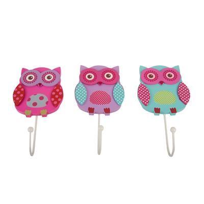 Image For Owl Hooks   3 Pack From Kmart