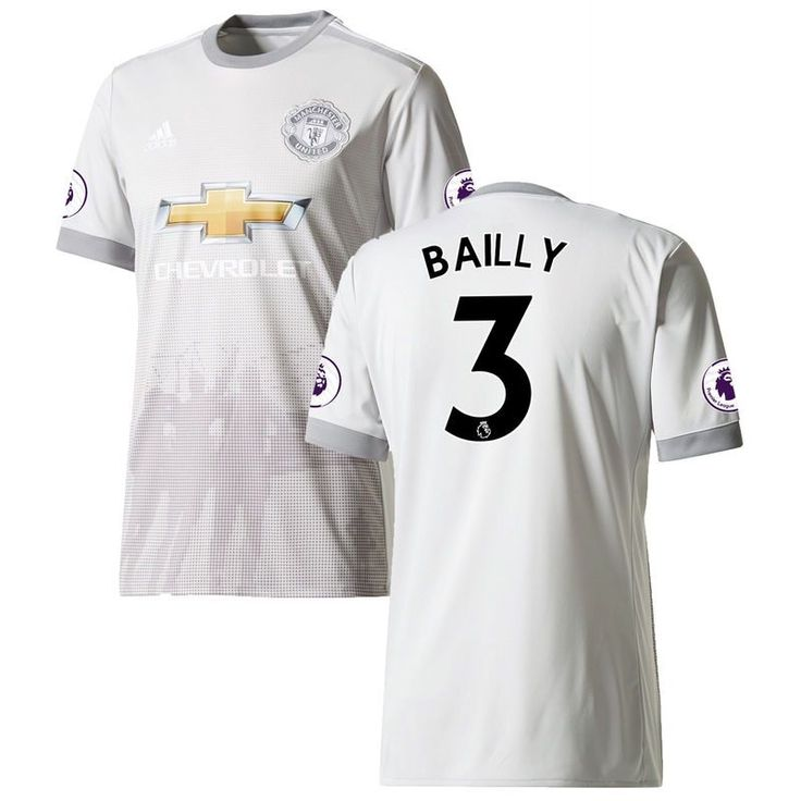 Eric Bailly Manchester United adidas 2017/18 Third Replica Patch Jersey - Gray