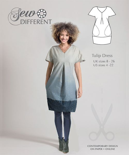 Tulip Dress - Multisize sewing pattern available on paper or to download - Sew Different