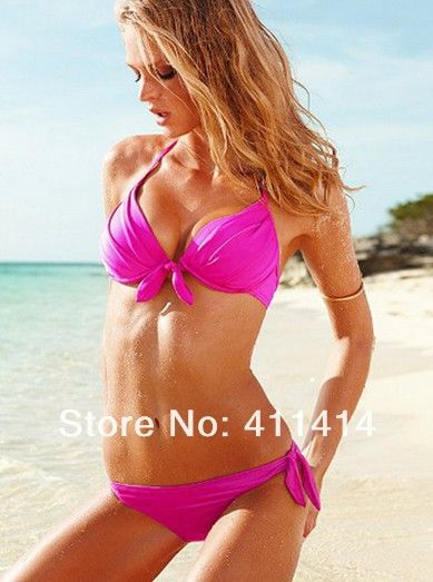 FEDEX Free 100PCS/LOT Size S M L HOT Fashion Tie-front Push-up Halter Top&Side-tie Bikini Bottom Two-piece Bathing Suit S/M/L US $790.00 Specifics GenderWomen Item TypeBikinis Set Pattern TypeSolid WaistLow Waist MaterialPolyester,Nylon Support TypeWire Free With PadYes Model NumberDH58602 Color6 Color for you choose StyleBikini is_customizedYes Brand NameGS Color StyleNatural Color  Click to Buy :http://goo.gl/t9O329