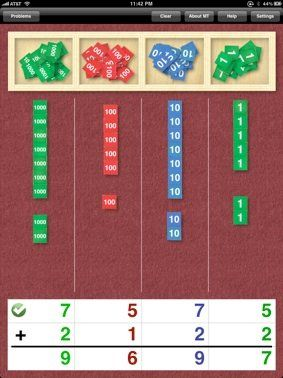 Montessori Stamp Game for the Ipad.  My favourite Montessori math activity.