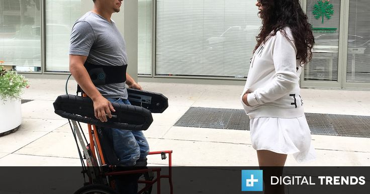 Chicago's Center for Bionic Medicine has developed the first manual wheelchair letting users switch between seated and standing positions.