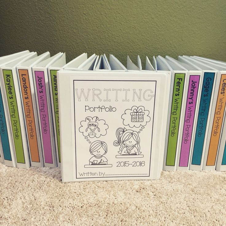 Blog post about writing portfolios in a lower elementary classroom! Freebie included!!
