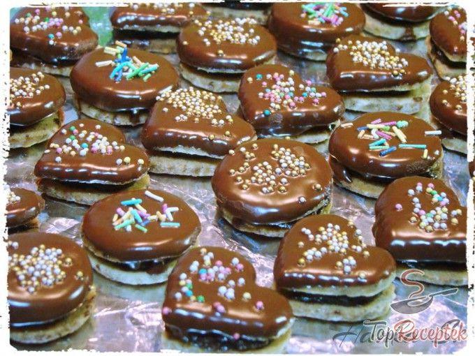Diós-csokoládés karácsonyi sütemények