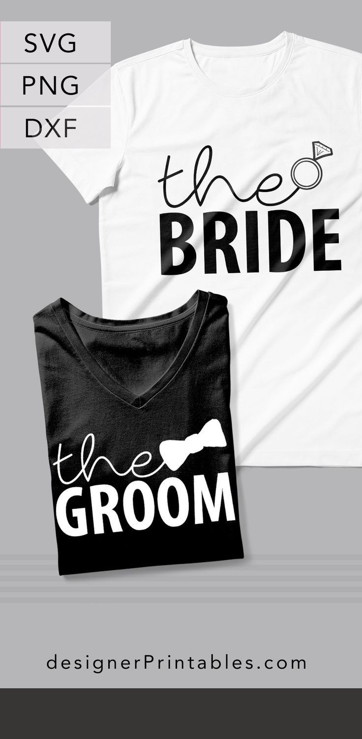 Clic Look And Feel To These Wedding Collection Designs Use Free Printable Cut Files Make Your Bride Shirt Groom Great For