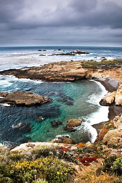 Point Lobos Cloudy by Jared Ropelato on Flickr. Carmel-by-the-Sea, a small city in Monterey County, California, United States