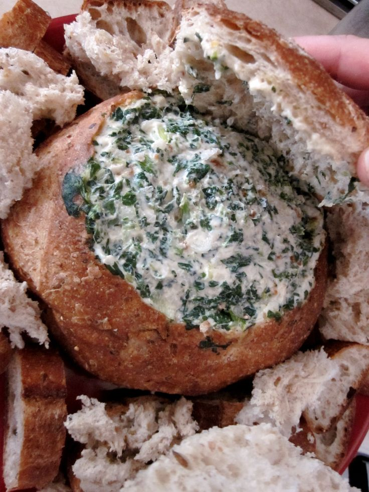 Spinach Cobb loaf