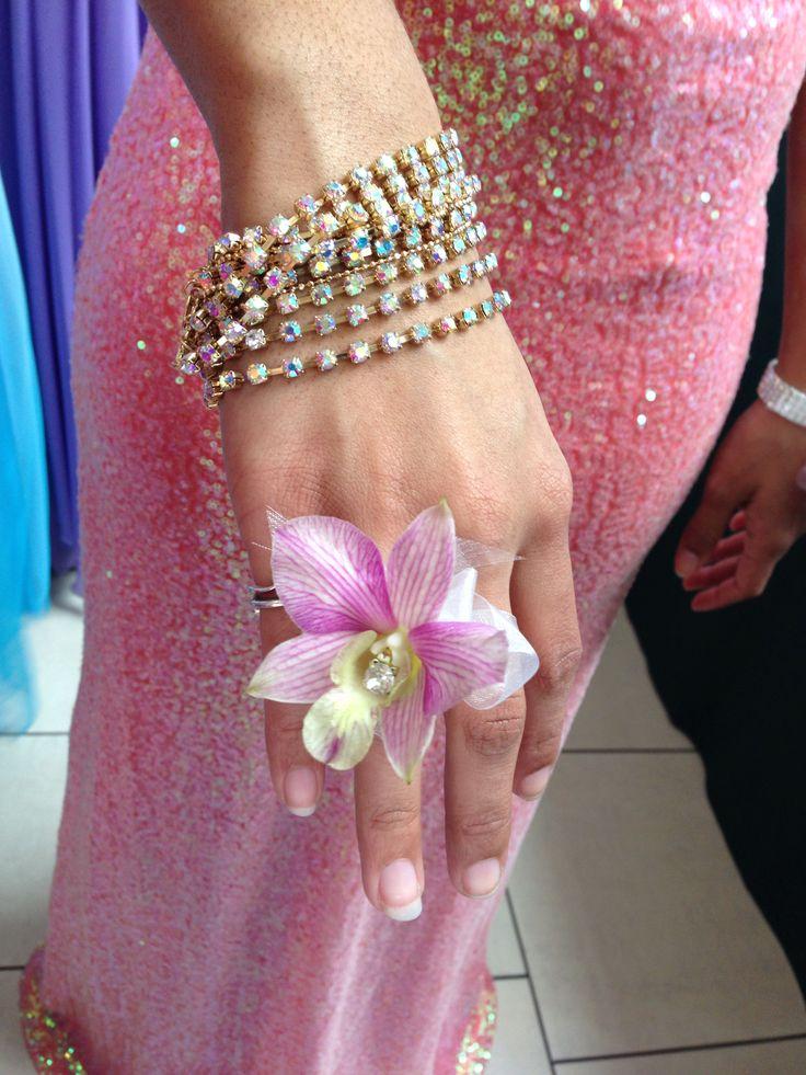 Fresh Flower Ring For Prom
