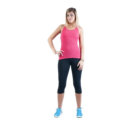 Lorna Jane String Tank Scarlet Marl - High quality, ribbed tank for working out, running, or general casual wear. Looks great with a pair of Lorna Jane Tights! Find this and more at Onsport.com.au