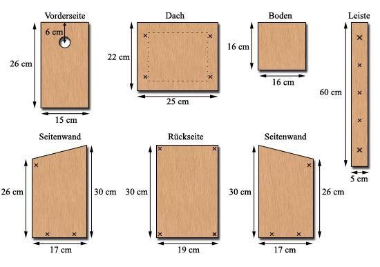 Starenkasten bauen: Nistkasten für den Star, Wendehals und Kleiber - Nistkasten/Nisthilfen