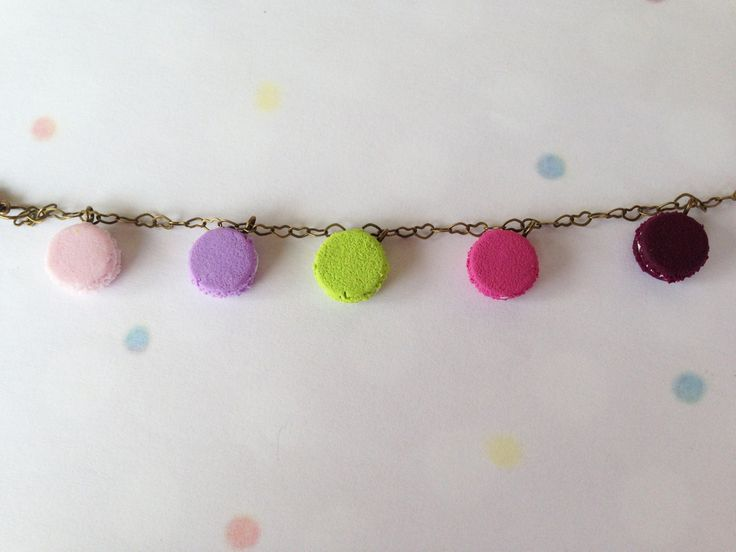 Colorful Macaroon Series Bracelet _ Miniature Food _ Polymer Clay _ Food Jewelry _ Foodie Gift _ Macaroon Collection by MarisAlley on Etsy