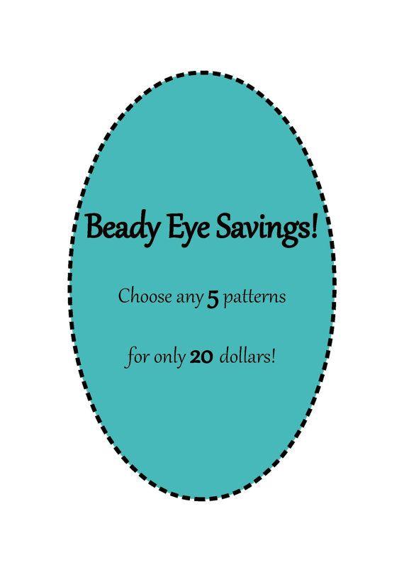 Beady Eye Savings Choose any 5 patterns  by TheBeadyLittleEye, $20.00