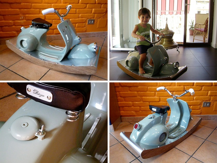Vespa turned into rocking horse
