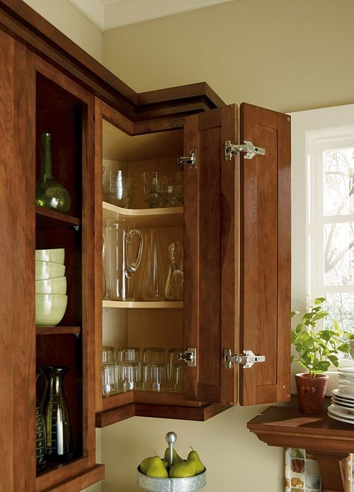 Corner upper cabinet kitchen remodel pinterest style for Upper kitchen cabinets