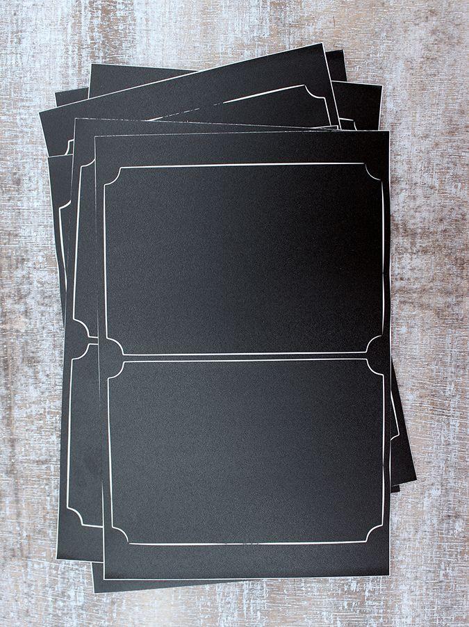 Set 12 kusů tabulových cedulek na zavařeniny nebo dárky. Velikost jedné cedulky je 9,5 x 6,5 cm