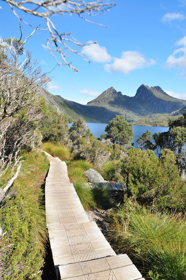 Cradle Mountain-Lake St Clair National Park is located in the Central Highlands area of Tasmania (Australia). The park contains many walking trails, and is where hikes along the well-known Overland Track usually begins.