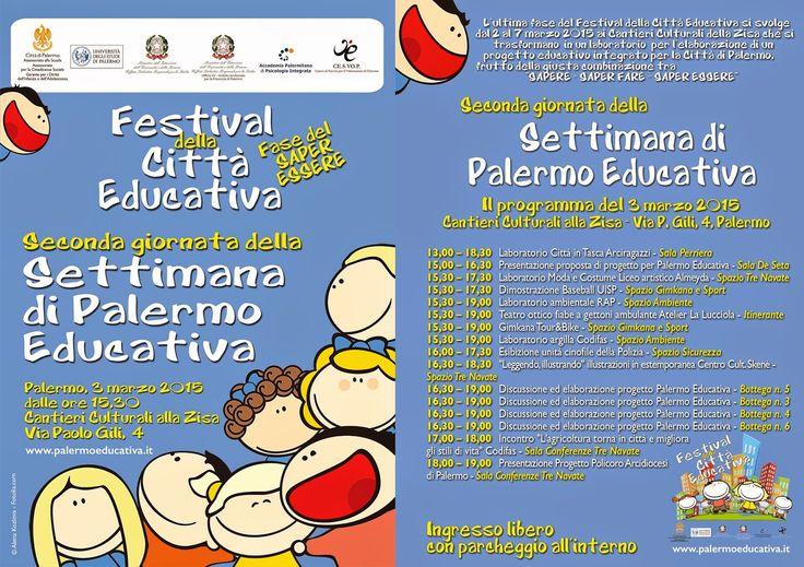 Mondo Solidale: Settimana Palermo Educativa, oggi 2 marzo si inizi...