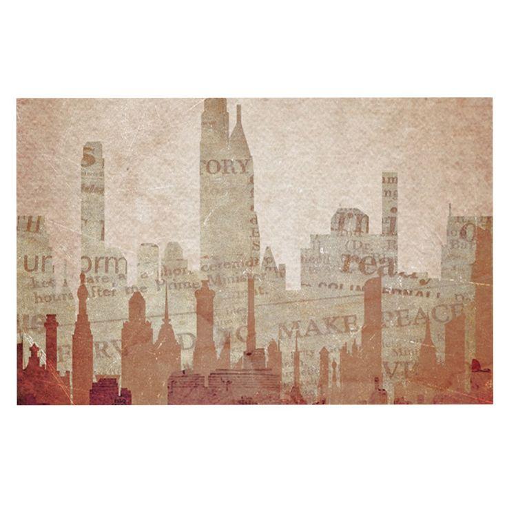 """Alison Coxon """"City"""" Warm Tan Decorative Door Mat"""