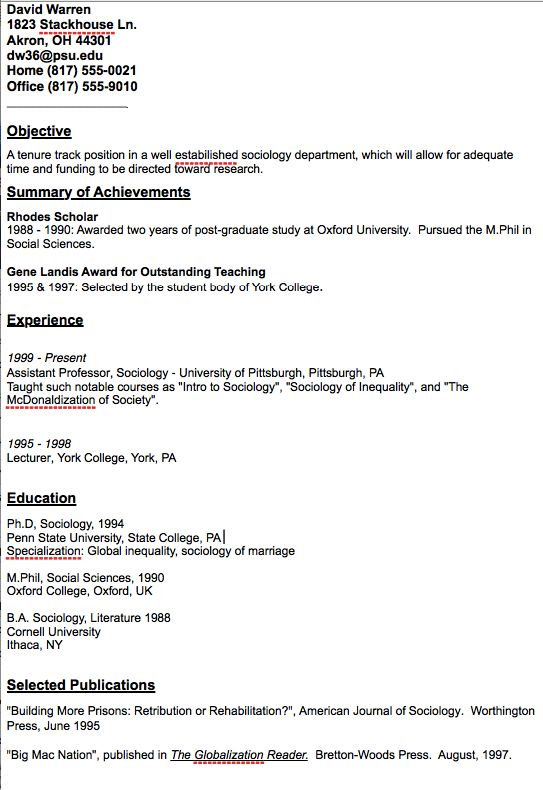 Academic Assistant Professor Resume Sample -    resumesdesign - cornell sample resume