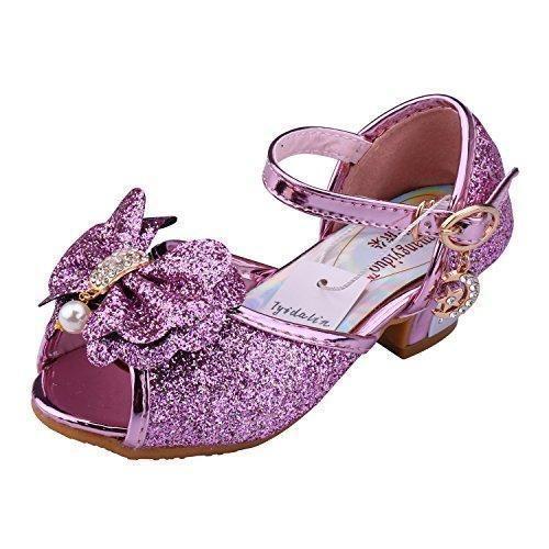 Oferta: 26.99€. Comprar Ofertas de Tyidalin Niña Bailarina Zapatos de Tacón Disfraz de Princesa Zapatilla de Ballet para 3 a 12 Años EU24-35(Color:Rosa,Plata,Or barato. ¡Mira las ofertas!