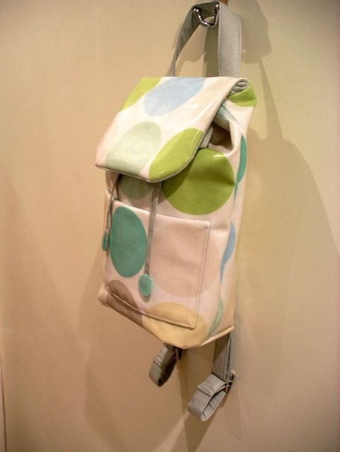Backpack Bag Tutorial - in yummy oilcloth