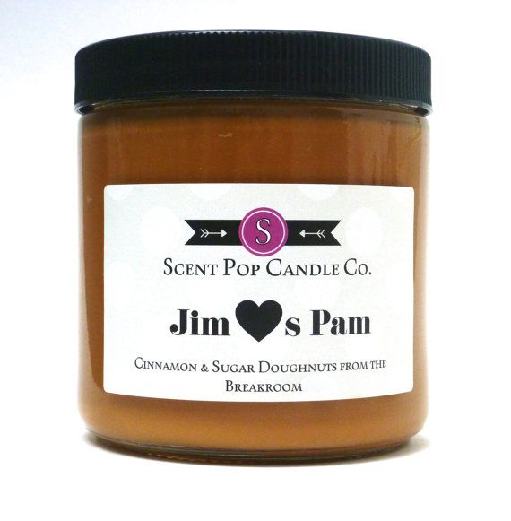 Jim Loves Pam The Office 16 oz soy candle by ScentPopCandles