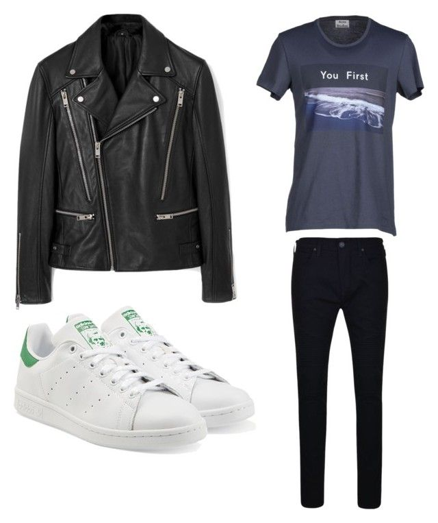 Spring look by arvid-gustafsson on Polyvore featuring polyvore, Acne Studios, True Religion, MANGO MAN, adidas Originals, mens, men, men's wear, mens wear, male, mens clothing and mens fashion