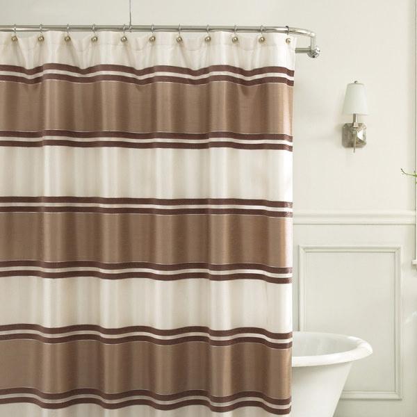 Jardin Stripe X Fabric Shower Curtain