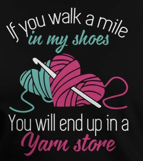 Haha, I've been told I have a yarn addiction.