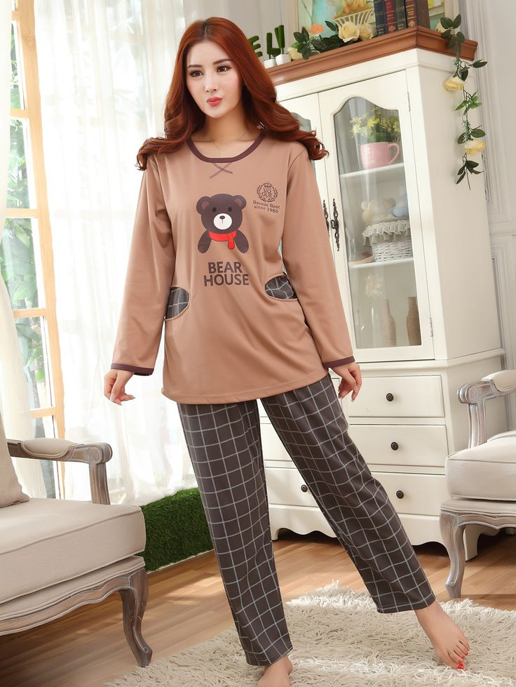 Cotton Couple Winter Pajama Set, different size for choice & different styles for choice